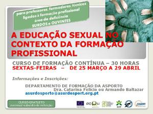 """ASPorto promove o Curso """"A Educação Sexual no Contexto da Formação Profissional"""""""
