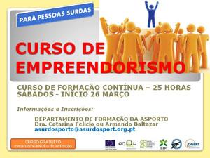 """Associação de Surdos do Porto promove o """"Curso de Empreendorismo"""""""