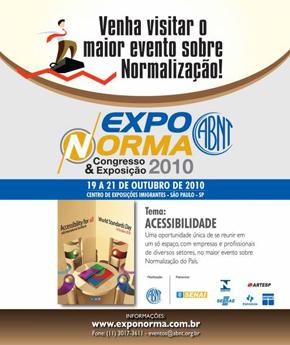 Brasil: EXPONORMA 2010 tem como temática a Acessibilidade