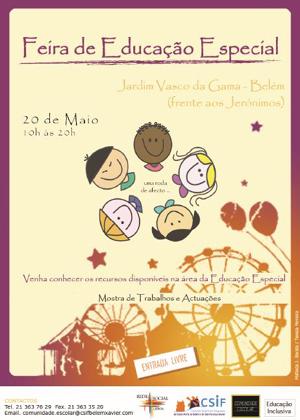 Feira de Educação Especial no Jardim Vasco da Gama em Belém