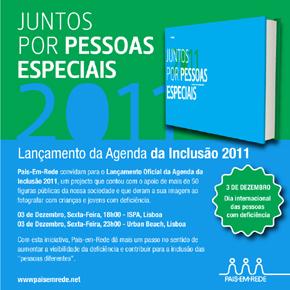 Convite Pais em Rede – Lançamento da Agenda da Inclusão 2011